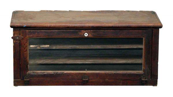 Small Tiger Oak Cabinet Showcase