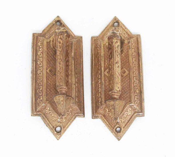 Pair of Pointed Bronze Washed Pulls