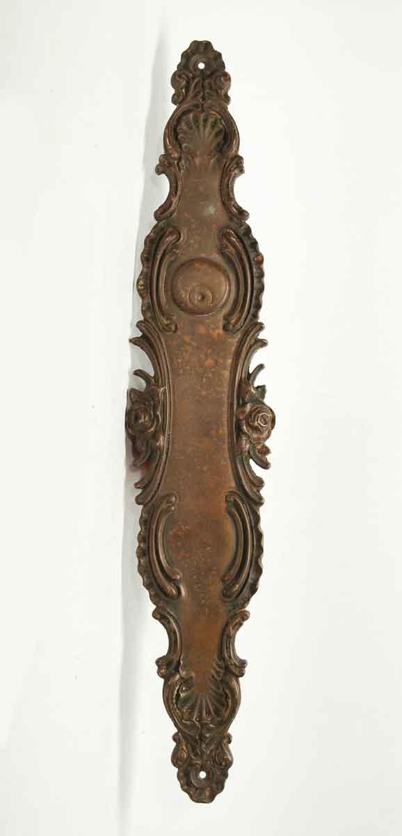 Ornate Bronze Long Push Plate