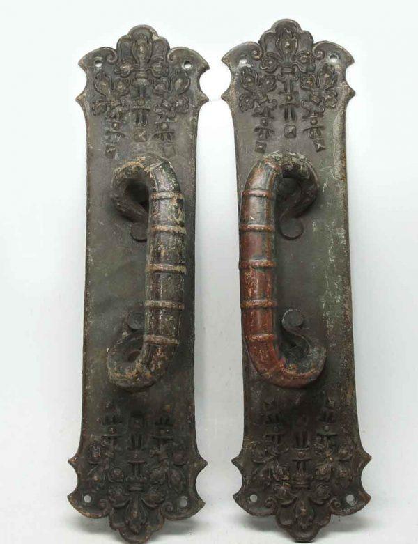 Pair of Bronze Ornate Pulls