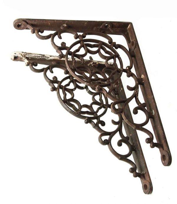 Pair of Iron Swirled Brackets