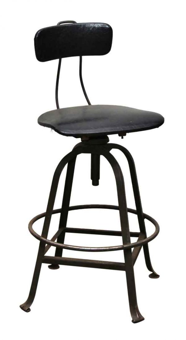 Black Factory Metal Stool