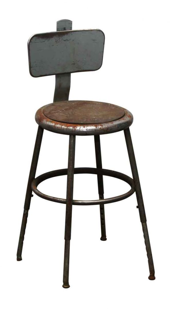 Aged Factory Stool