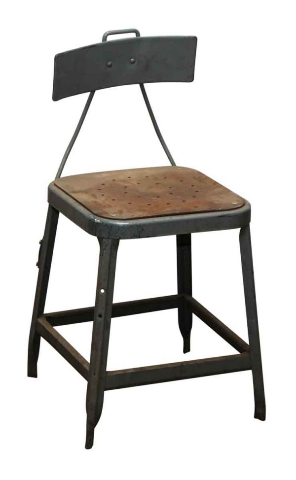 Square Seat Metal Factory Stool