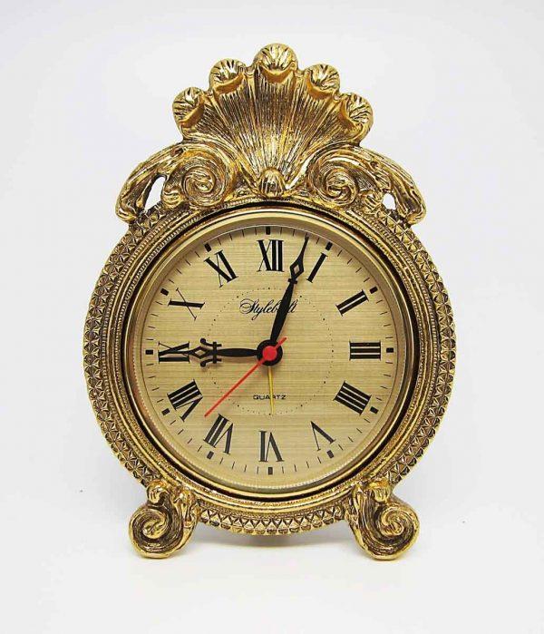 Antique Rococo Style Desk Clock with Shell Design