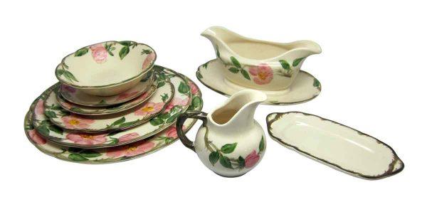 Vintage Floral Rose Dish Set
