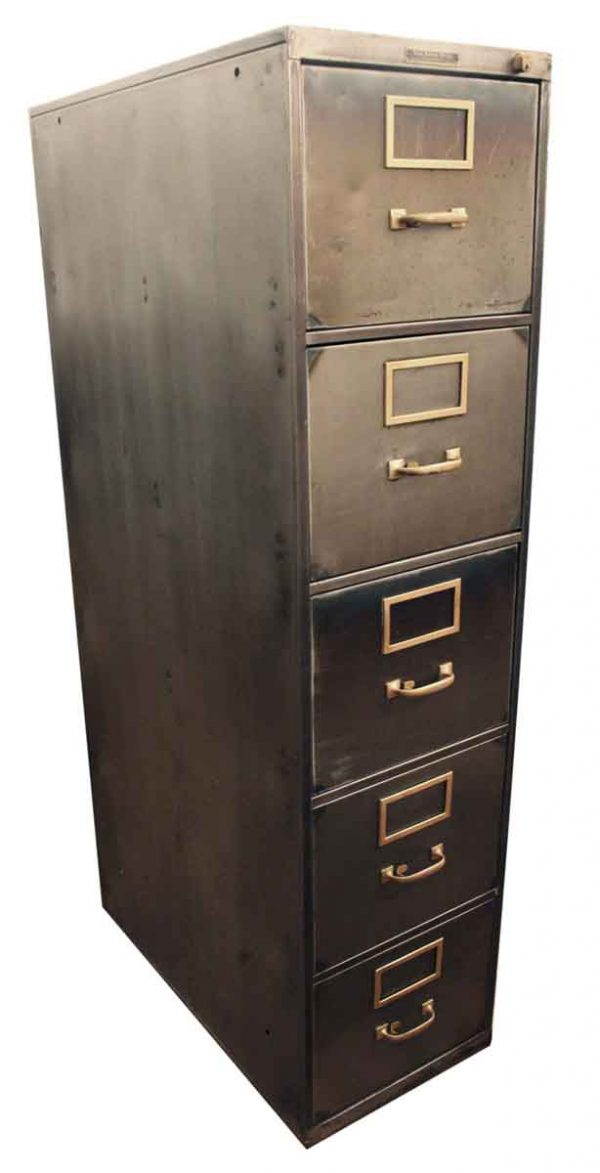 Industrial Stripped Steel File Cabinet