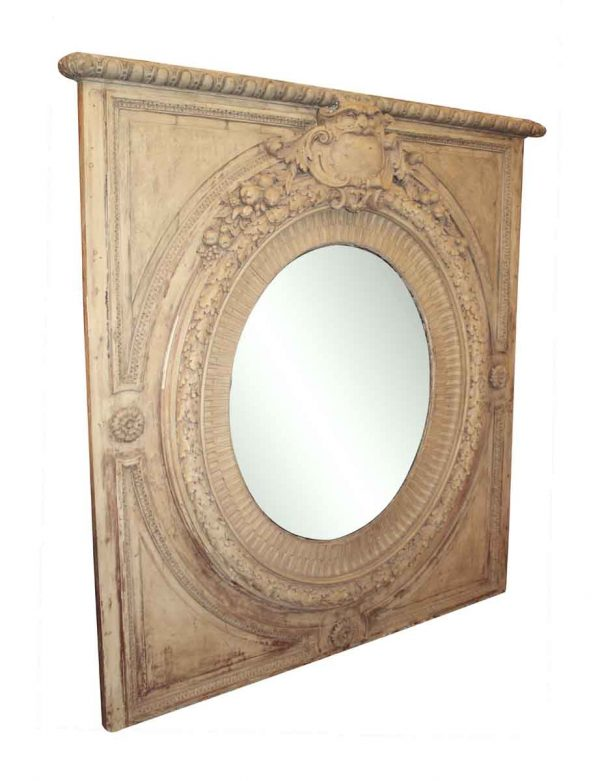 Large Carved Plaster Overmantel Mirror