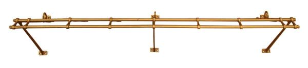 Cast Iron Train Rack with Gold Finish