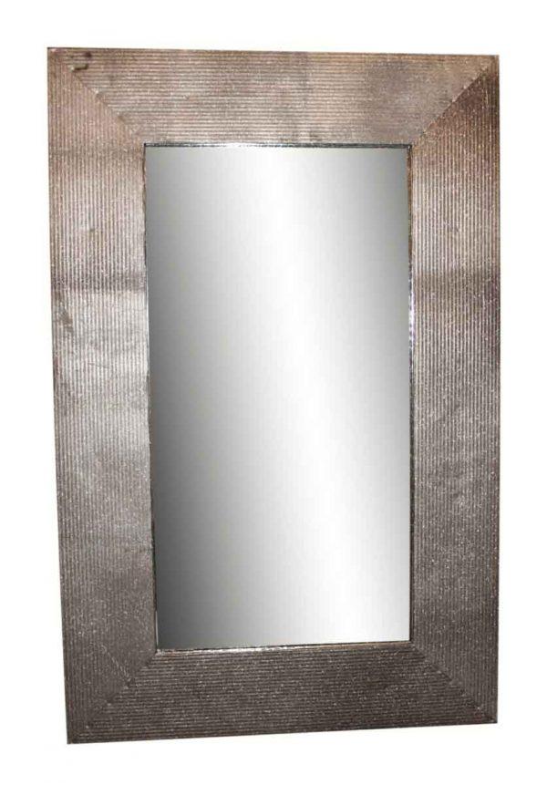 Ribbed Reclaimed Metal Mirror