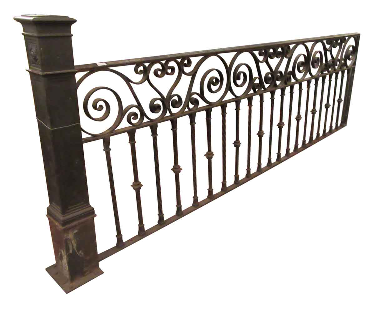 Wrought iron balcony rail olde good things