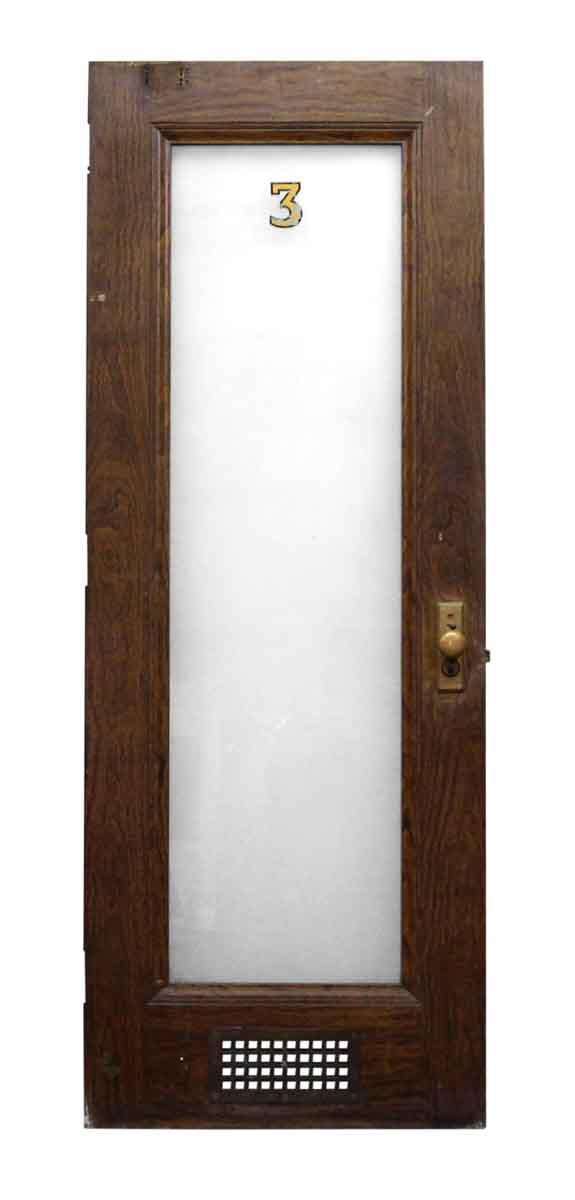 Metal Door with Wood Veneer & Glass Panel