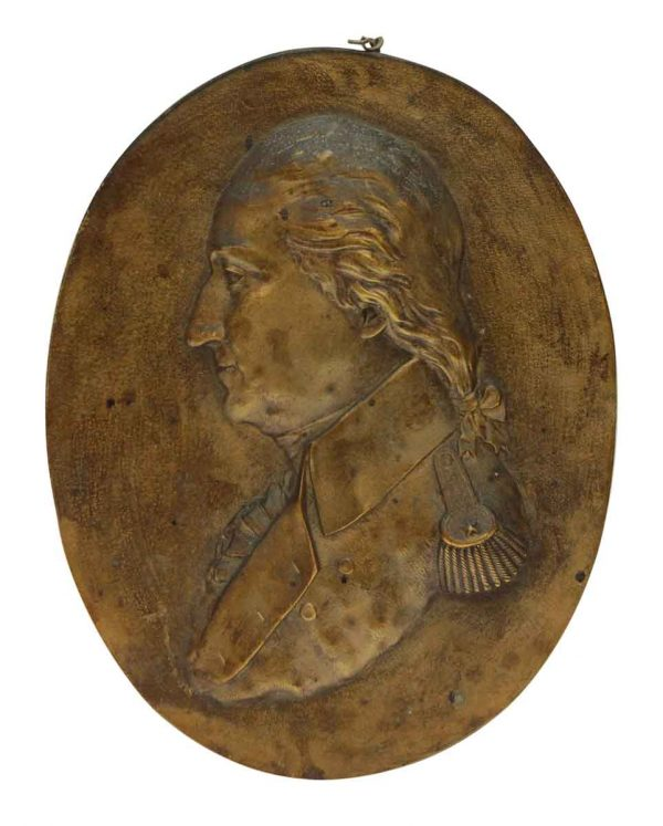 Bronze George Washington Plaque