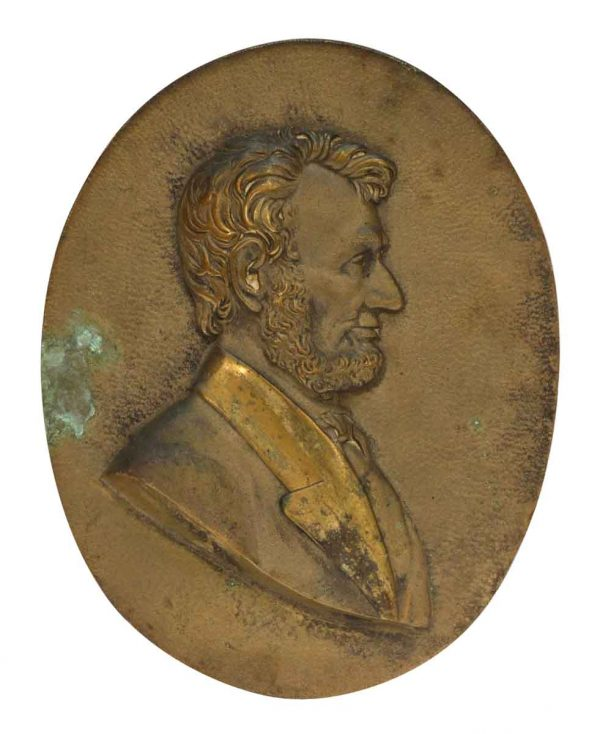 Bronze Abraham Lincoln Plaque
