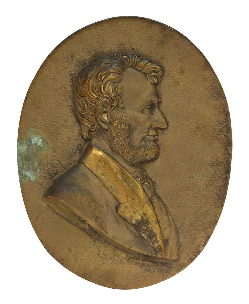 Bronze Abraham Lincoln Plaque Olde Good Things