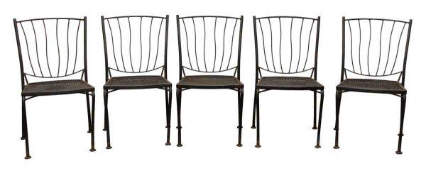 Black Patio Chair Set