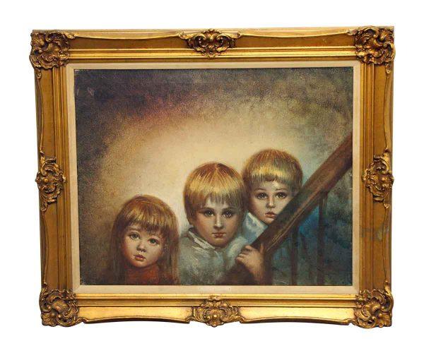 Ornately Framed Children Portrait