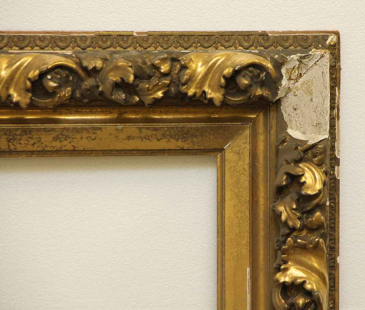 Ornate Gold Plaster Picture Frame Olde Good Things
