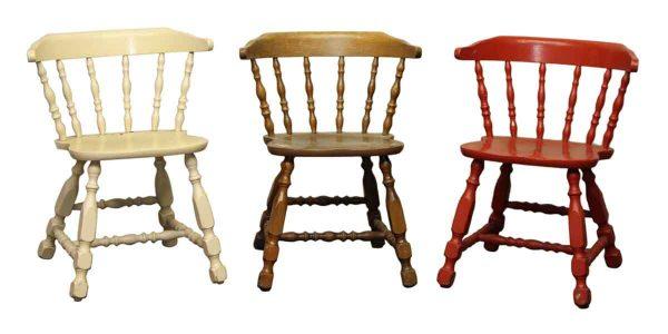 Antique Wooden Captains Chair
