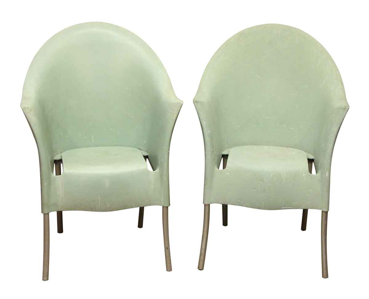 Pair of green philippe starck chairs olde good things for Pair of chairs for living room