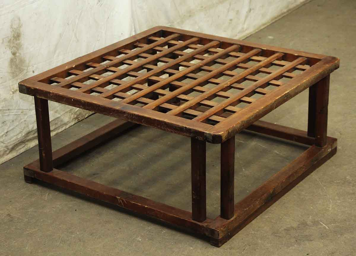Square Wooden Coffee Table Base Olde Good Things
