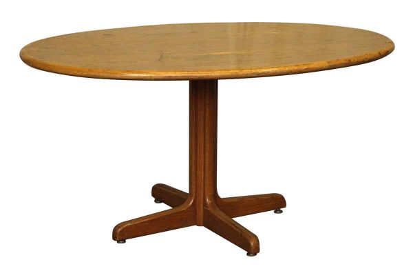 Wooden Oval Top Table