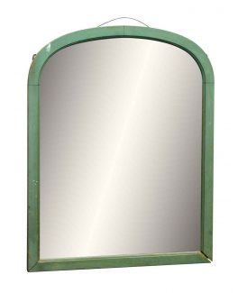 green arched wood framed mirror - Wood Frame Mirror