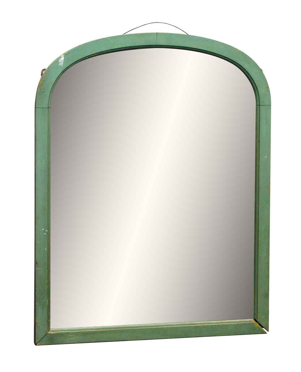 Green Arched Wood Framed Mirror Olde Good Things