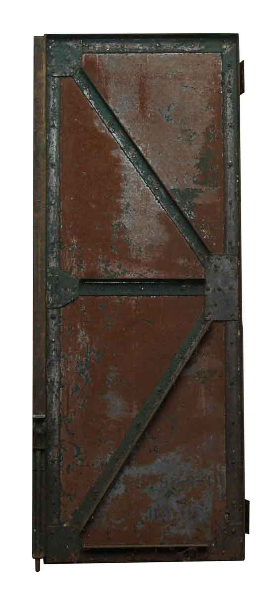 Salvaged Metal Rusted Door