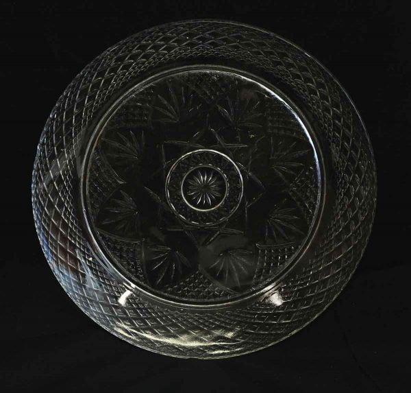 Set of Four Entree Glass Plates