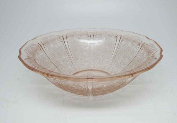 Antique Pink Floral Detailed Serving Bowl