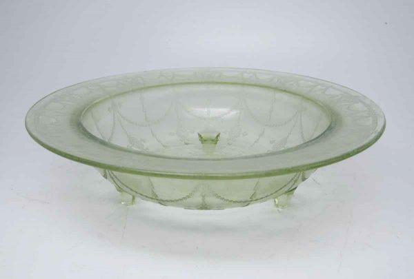 Light Green Glass Serving Bowl