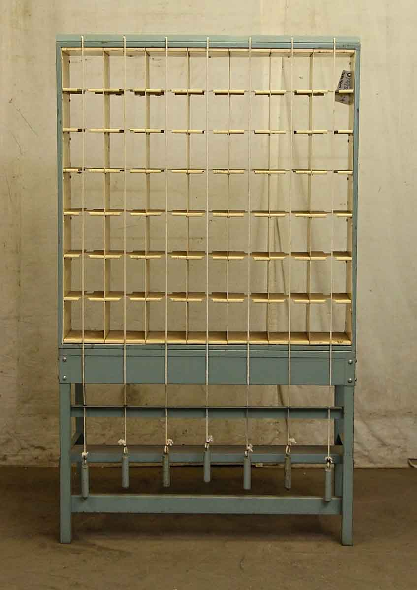 Tall Blue Mail Sorting Cabinet