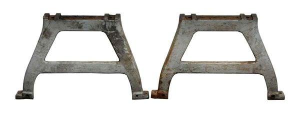 Pair of Original Gray Iron Machine Legs