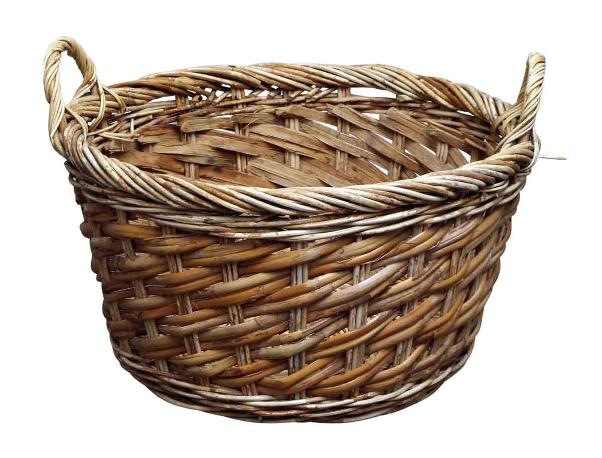 Straw Garden Fruit Basket   Olde Good Things