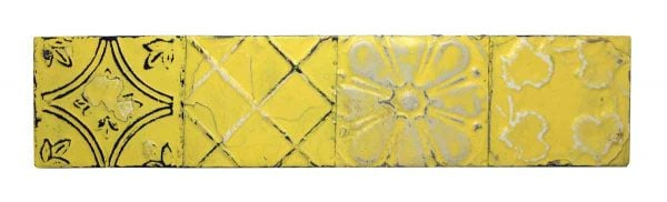 Funky Yellow Mixed Pattern Long Tin Panel