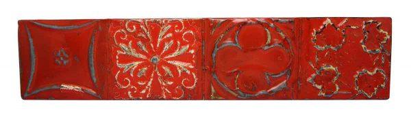 Red Shellac Long Tin Panel
