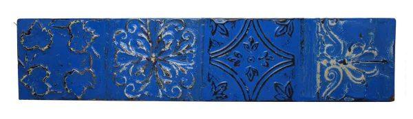 Royal Blue Shellac Long Tin Panel