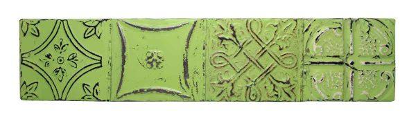 Lime Green Long Tin Panel
