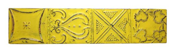 Bright Yellow Long Tin Panel