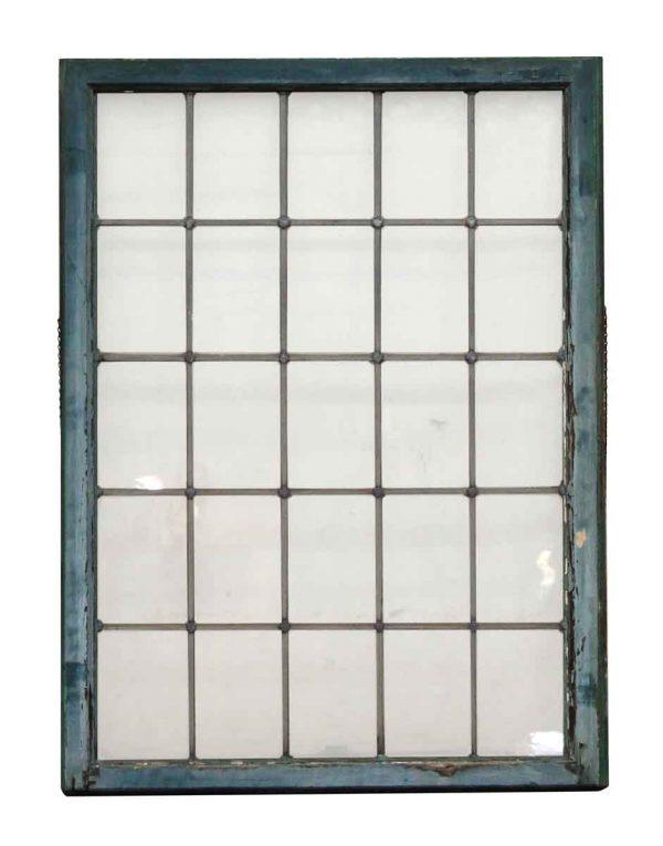 Multiple Pane Wood Leaded Window