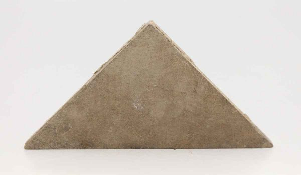Triangular Gray Matted Clay Tiles