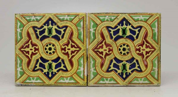 Pair of Colorful Spanish Tiles