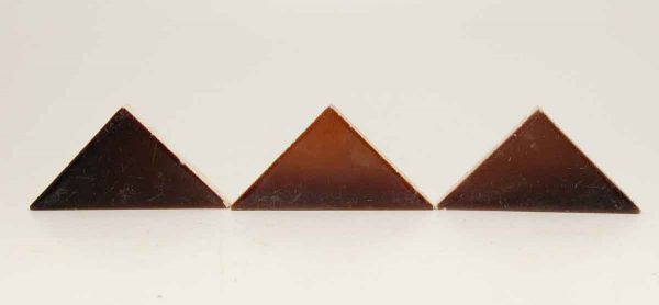 Trio of Brown Triangular Tiles