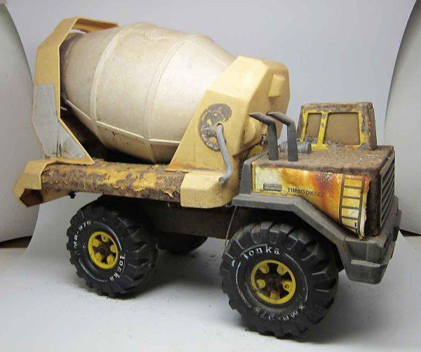 Old Vintage Turbo Diesel Cement Truck