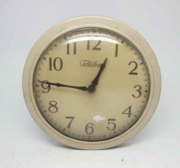Tan Wall Telechron Clock