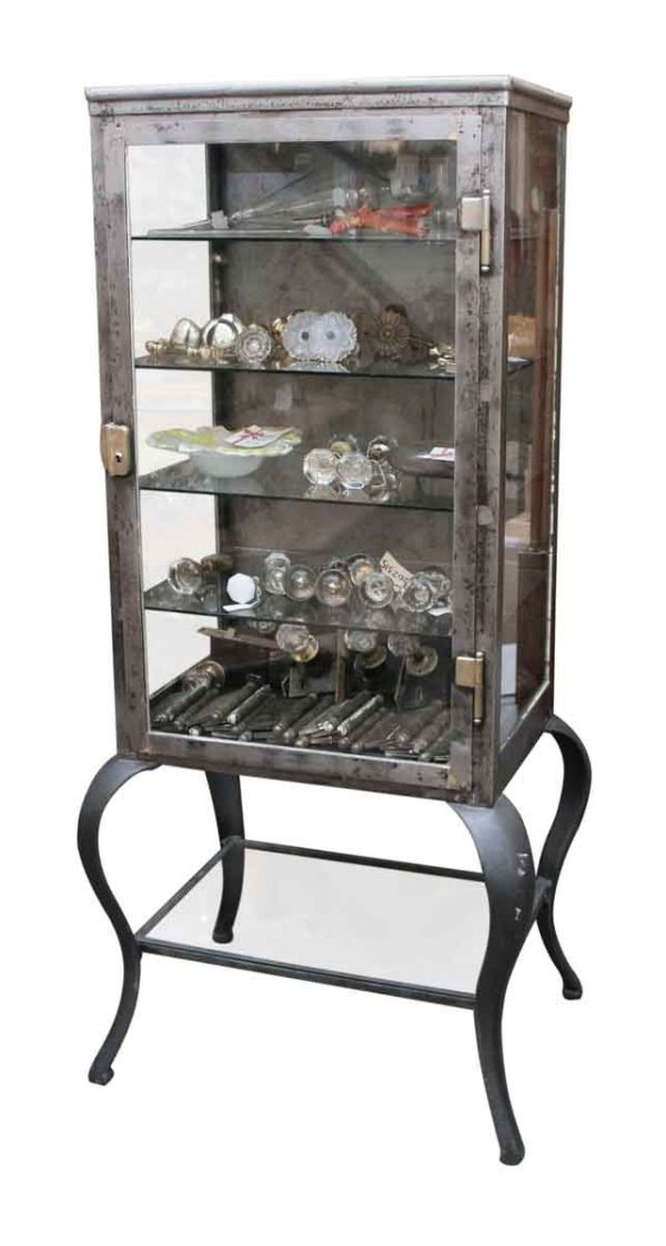 Vintage Stripped Medical Cabinet