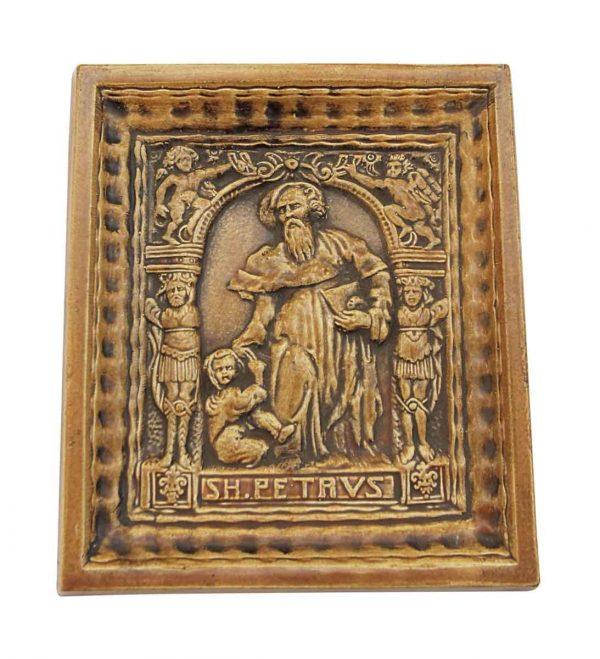 Religious Ceramic Saint Peter Tile