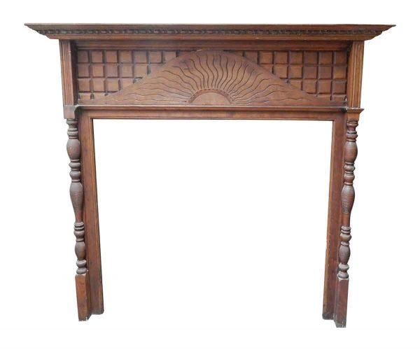 Beaux Arts Craved Wood Mantel