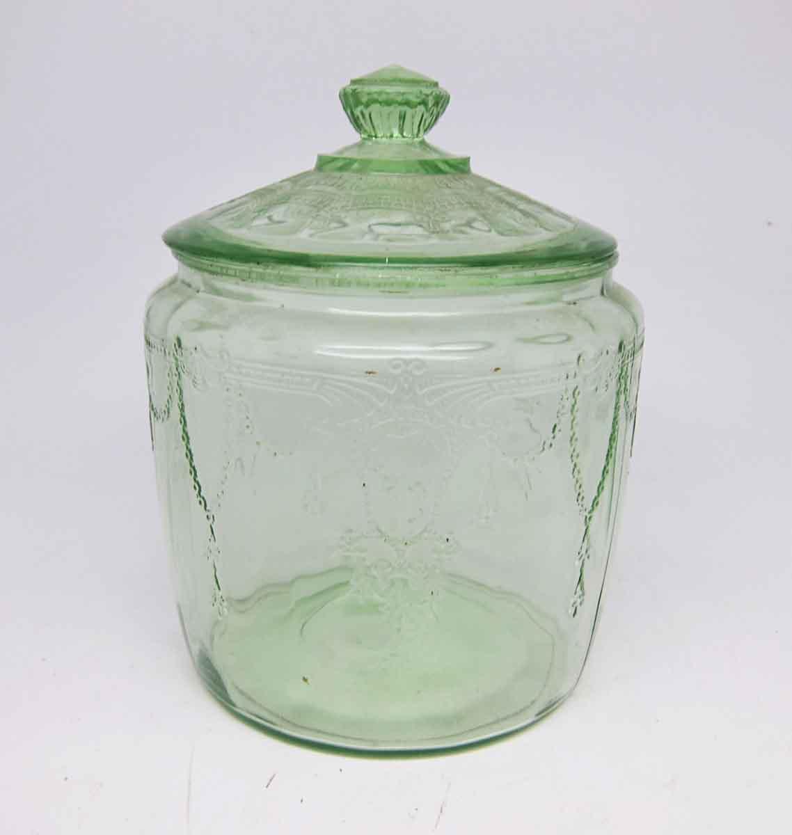Clear Light Green Vintage Glass Jar With Lid Olde Good
